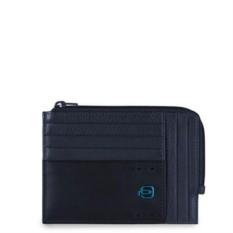 Темно-синий чехол для кредитных карт Piquadro Pulse