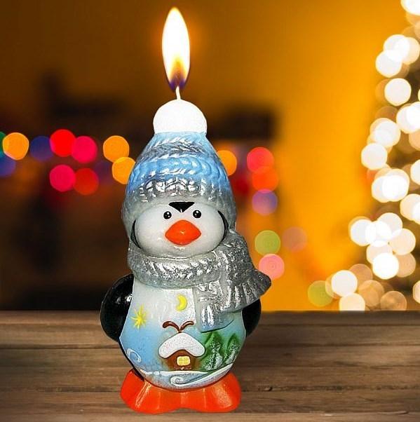 Новогодняя свеча «Пингвин»