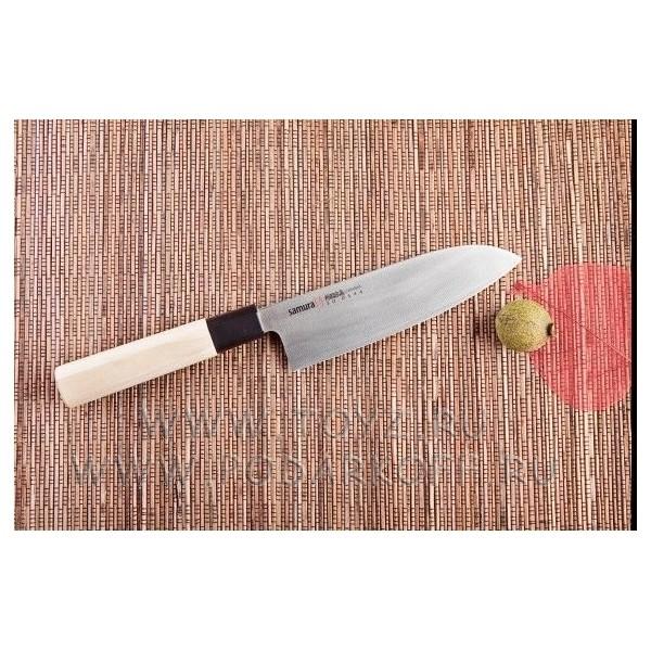 Нож кухонный Сантоку японский Шеф Samura okinawa