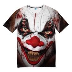 Мужская 3D-футболка Зомби клоун