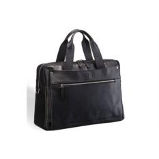 Черная кожаная деловая сумка Brialdi Calabria