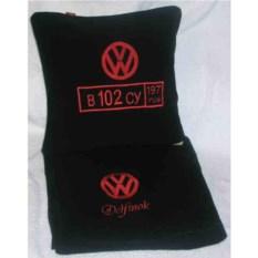 Черный плед с номером Volkswagen