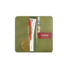 Холдер кожаный для документов Artskill Travel (зеленый)