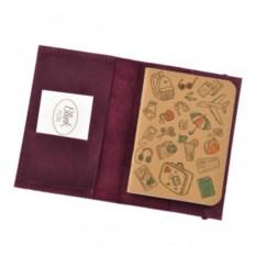 Кожаная обложка на паспорт Blanknote 1.0 Виноград