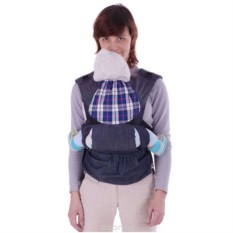 Синий эргономичный слинг-рюкзак Бебимобиль Хип