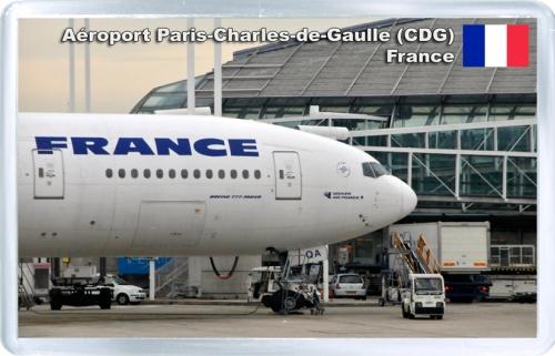 Аэропорт имени Шарля де Голля. Самолет Air France.