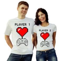 Парные футболки Player1, Player 2