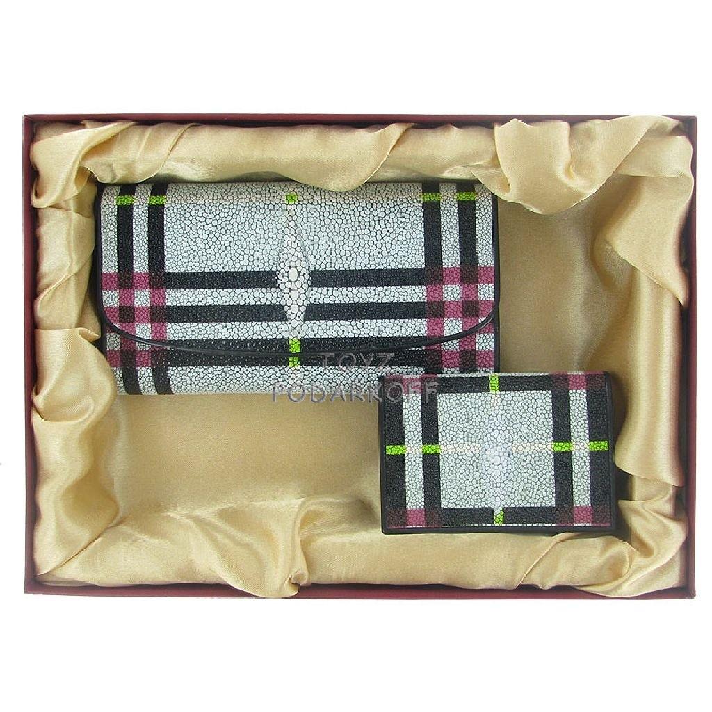 Подарочный набор для женщин из кожи ската.