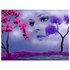 Картина-раскраска по номерам на холсте Мираж