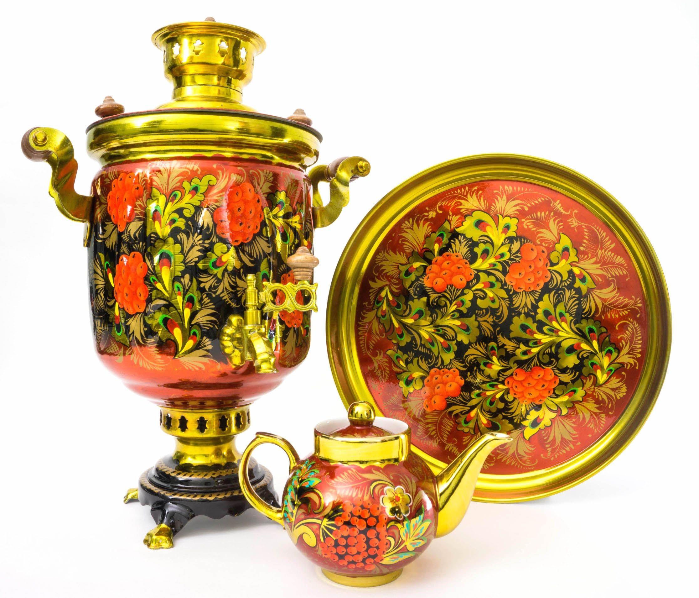 Комбинированный самовар Рябиновый чай