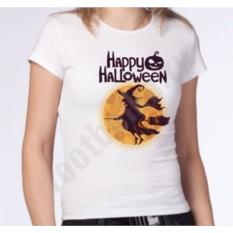 Женская футболка на halloween Ведьма на метле