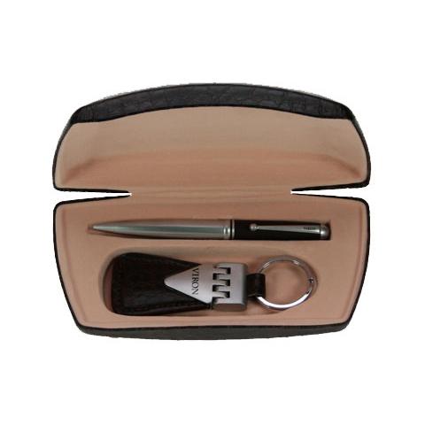 Подарочный набор VIRON: авторучка, брелок 18*10 см