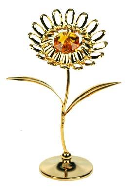 Фигурка декоративная с кристаллами Сваровски Ромашка