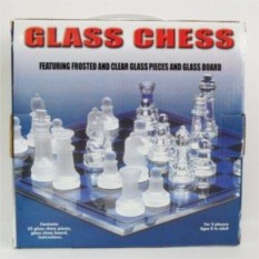 Стеклянные подарочные шахматы