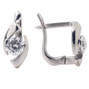 Серьги с 2-мя бриллиантами