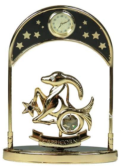 Фигурка декоративная Swarovski с часами Козерог