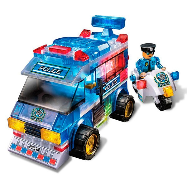Конструктор Lite Brix Полицейский фургон с подсветкой