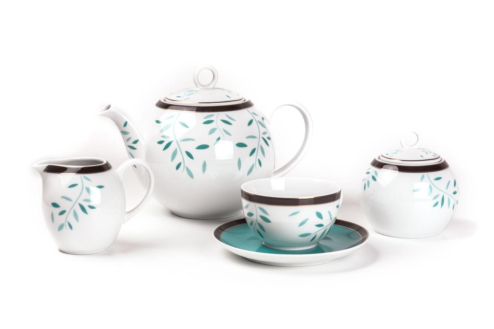 Фарфоровый чайный сервиз на 6 персон LAURETTE MONALISA