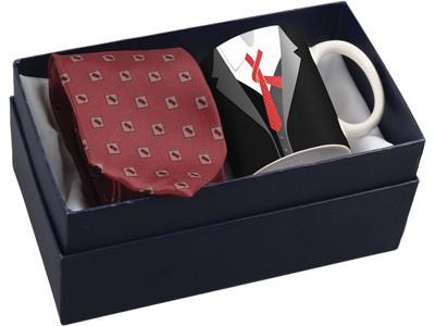 Подарочный набор для мужчины: чашка и галстук «Утро джентльмена»