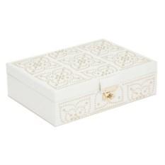 Белая шкатулка для украшений с клепками Wolf Marrakesh