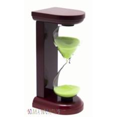 Часы песочные 5 минут c салатовым песком