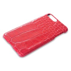 Коралловый чехол из кожи крокодила на Iphone 7