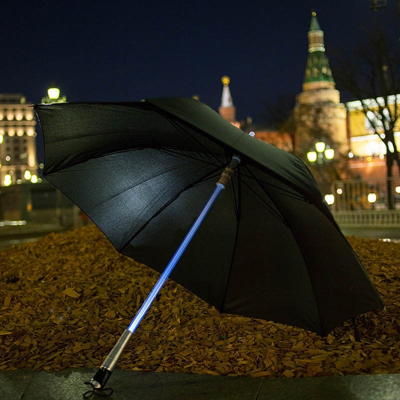 Зонт со светящейся ручкой Джедай
