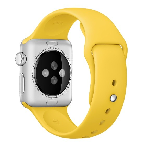 Ремешок для Apple Watch 38mm Yellow Sport Band