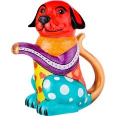Чайник с ручной росписью Собачка, объем 900 мл