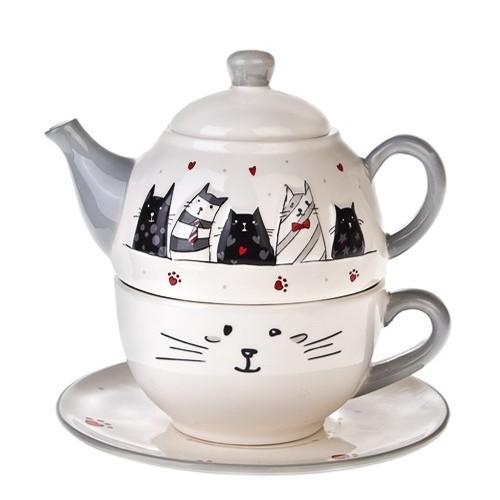 Чайный набор на 1 персону Котики