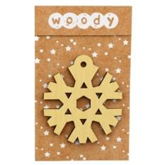 Деревянное новогоднее украшение «Снежинка»