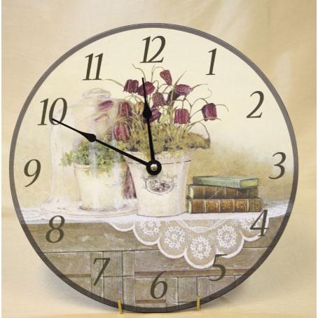 Настенные часы «Букет на комоде»