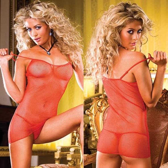Мини-платье Barbie OS (42-46), прозрачное красное