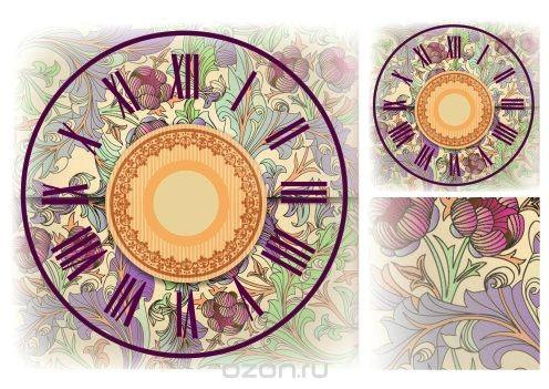Рисовая карта для декупажа Циферблаты №6, формат А3