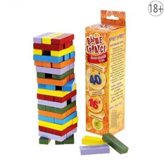 Деревянный набор Пьяная башня в коробке, цветной