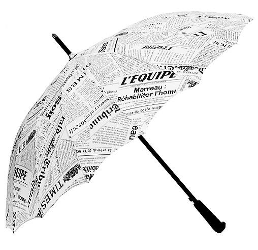 Белый зонт Newspaper