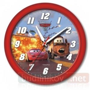 Детские настенные часы Тачки-2, красные