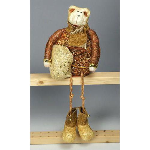 Медведь-длинноножка терракотовый 26 см