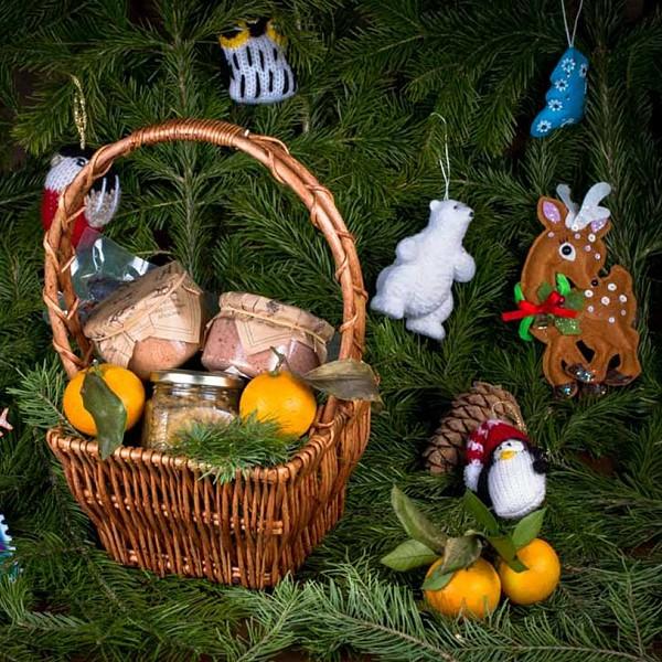 Новогодняя подарочная корзина «Мечта гурмана»
