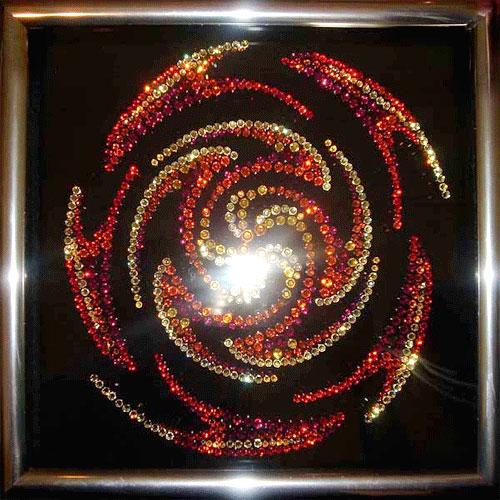 Хрустальная картина с подсветкой «Вихрь»