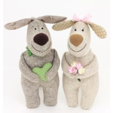 Мягкие игрушки «Влюбленные собачки»