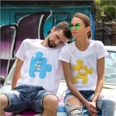 Парные футболки Счастливые пазлы