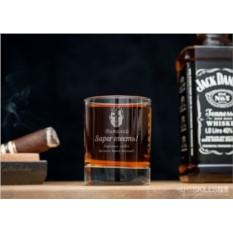 Именной стакан для виски Супертесть