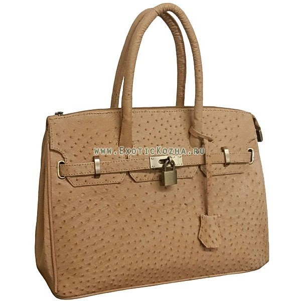 62236fd9f775 Женская сумка из натуральной кожи страуса | купить в Подарки.ру