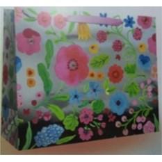 Бумажный ламинированный пакет Цветы