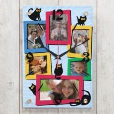Настенные часы Котики