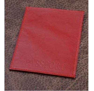 Обложка для паспорта. Коллекция Eclat (красный; нат. кожа)