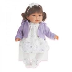 Озвученная кукла Лорена в фиолетовом Munecas Antonio Juan