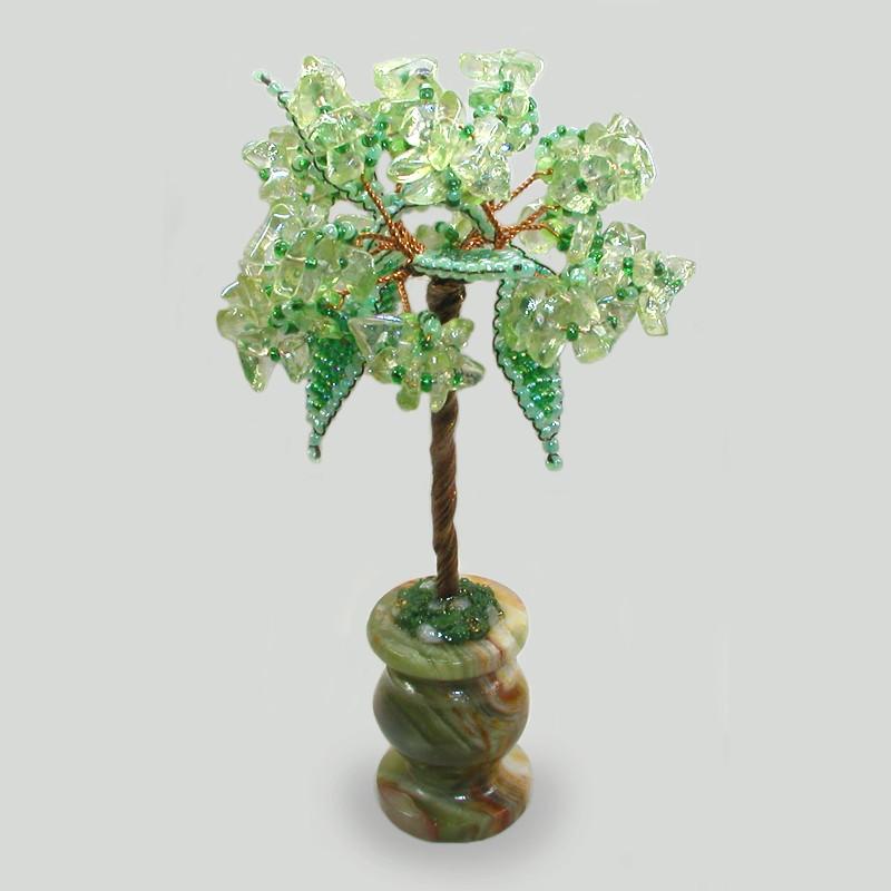 Миниатюрное дерево из хризолита Радость жизни