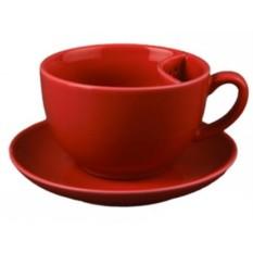 Чайная чашка с отделением для чайного пакетика с блюдцем